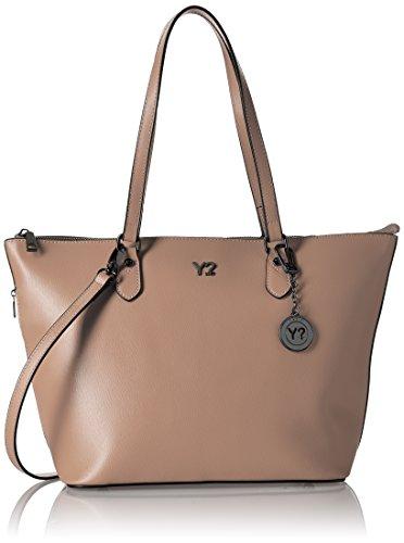 YNOT Shopping M, Borsa a Spalla Donna, 40.5x26x15.2 cm (W x H x L) Beige (Light Taupe)