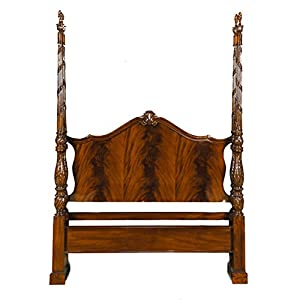 NBR019Q Queen Size Mahogany Four Poster Bed by Niagara Furniture