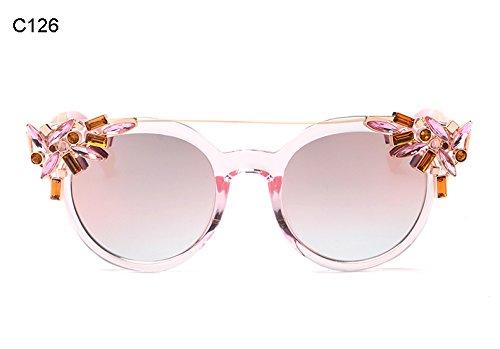 Marca Gato Vintage Bastidor Espejo Del F Sol d Gafas Coloridos Burenqi De Diseñador Moda Mujeres Ojo Recubrimiento Matices Uv400 wzzS1q