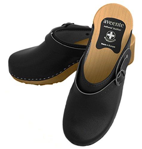 aveente, Damen Clogs & Pantoletten , schwarz - schwarz - Größe: 35 EU