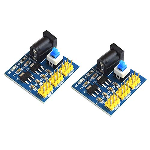 V 5V Voltage Converter DC Plug Input Buck Regulator Module Multi-Output Power Supply for Arduino Breadboard PCB Board ()