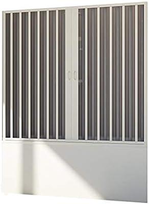 Forte Mampara de Bañera Puerta 140 CM H150 PVC Mod. Delfi Central ...