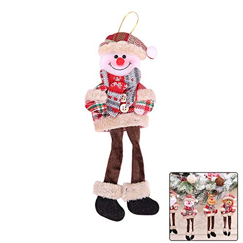 Ebeauty Christmas Trees Hanging Toy Long-Legged Snowman Hanging Doll Toy Xmas Trees Hanging Ornaments Home Decoration