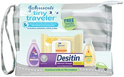 Johnsons Traveler Baby Essentials TSA Compliant