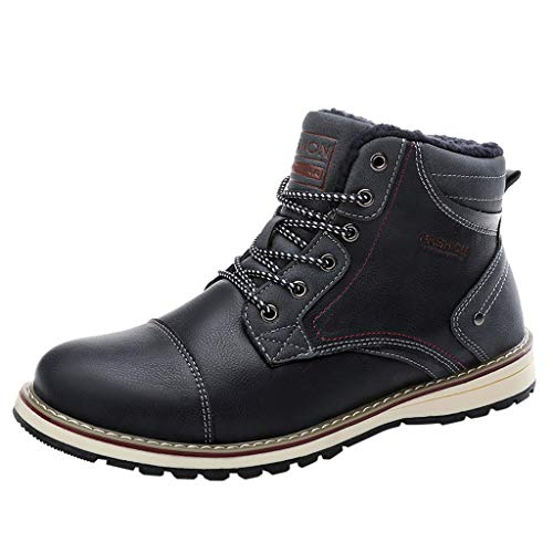 Haforever Men's Winter Snow Boots Waterproof Non-Slip Safe Walking Boots Hiking Saftey Thermal Boots