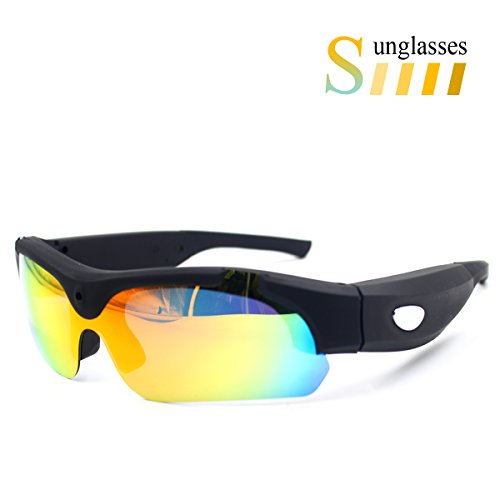 Sunglasses Camera With Colorful Eyeglass, Sunsome Real Full HD 1080P with Wide Angle Action Camera Video,Mini Camera for Outdoor Sports by Sunsome