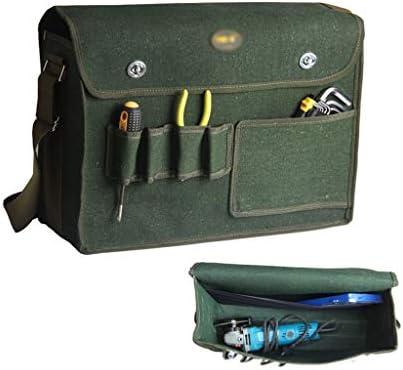 ツールオーガナイザー ポケットの耐摩耗性と再利用可能なダークグリーンとツールバッグガーデニングトートバッグガーデンツール収納袋とホーム主催 ポータブルツールボックス (サイズ : L)