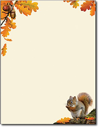 Acorn Fall / Autumn Letterhead - 80 -