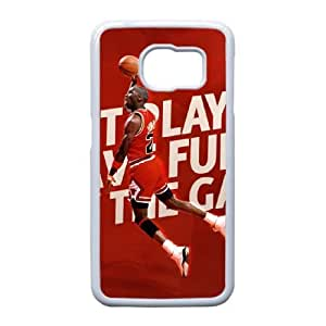 Samsung Galaxy S6 Edge Cell Phone Case White Michael Jordan Plastic Durable Cover Cases NYTY207953