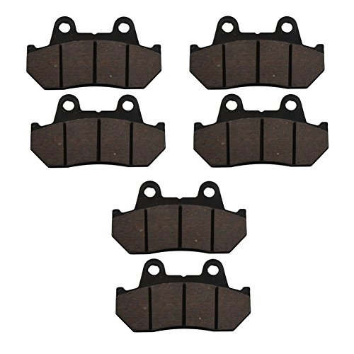 Gl1100 Honda Interstate - AHL Semi-metallic Front & Rear Brake Pads Set for Honda GL1100 Goldwing/Interstate 1982-1983