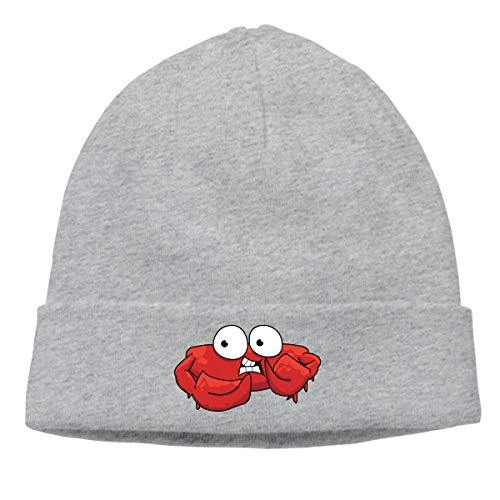 Hip-Hop Knitted Hat for Mens Womens Red Crab with Big Eyes Unisex Cuffed Plain Skull Knit Hat Cap Head Cap ()