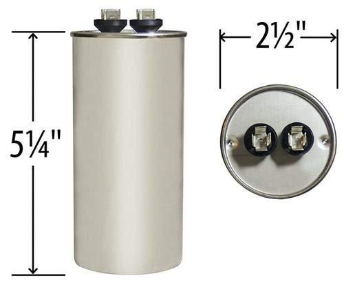 GE Genteq Round Capacitor 80 uf MFD 440 Volt 27L322BZ3 27L322