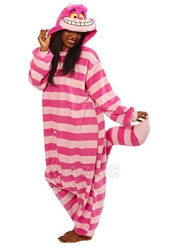 Cheshire Cat Kigurumi - Adult Costume (Cheshire Cat Costume Alice In Wonderland)