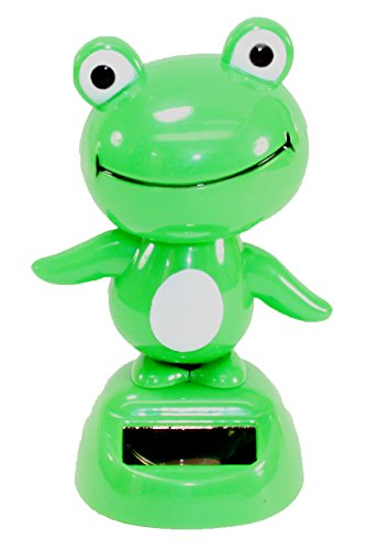 (Dancing Fun Green Frog Animal Solar Toys Dashboard Office Desk Home Decor US Seller)