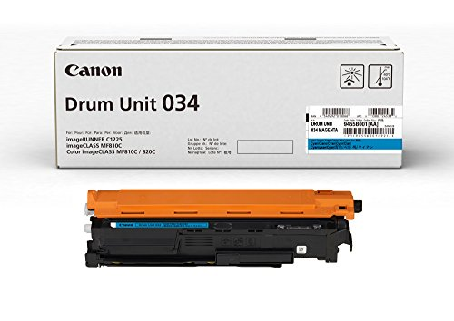 Canon 034 Drum Unit (Cyan, 1 Pack) in Retail Packaging