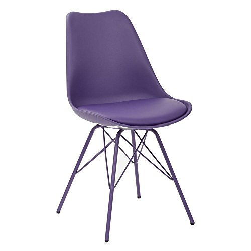 Emerson Poly Student Side Chair with 4-Leg Base in Purple
