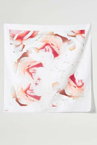 Camellia Cream Square Silk Scarf by Louis Jane  (''Where Nature Meets Art''TM)