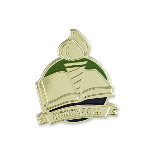 Honor Roll Lapel Pin - Academic Honor Roll Recognition Antique Gold Enamel Lapel Pin– 1 Pin