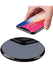 Qi Wireless Charger,IGUGIG 10W Upgraded Wireless Charging Pad for iPhone Xs/Xs Max/XR,iPhone X,iPhone 8 Plus/8,Samsung Galaxy S10/S9/S9 Plus,S8/S8 Plus,S7 S6 Edge+/Edge,Note 8 7 5,LG G3 (White)