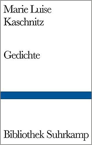 Gedichte Bibliothek Suhrkamp Bd 436 German Edition