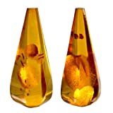 Amber Calibrated Pair of Gemstones Size 14x32mm