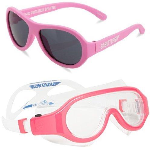 Babiators Sunglasses & Goggles Set, Pink