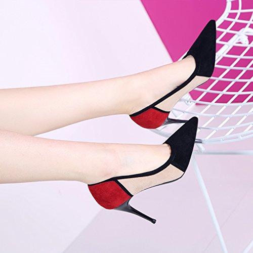GTVERNH-gut gesagt gesagt gesagt 8.5cm heels schuhe im frühjahr und herbst farbe seicht mund schuh stimmen überein.   b33903