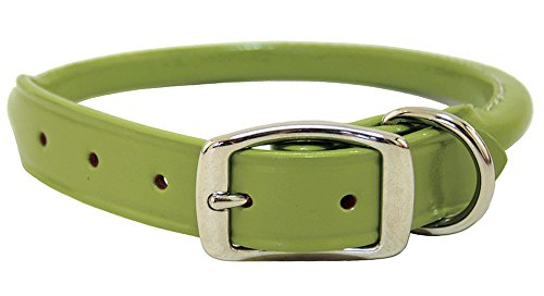 Auburn Leathercrafters Rolled Dog Collar - 16 - Green