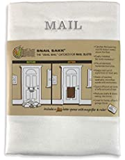 SNAIL SAKK: Mail Catcher for Mail Slots - WHITE w/ GRAY-SILVER