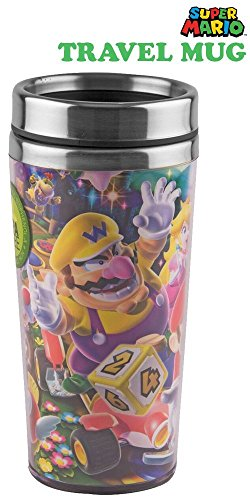 Monopoly Mug - Super Mario Party Tumbler Travel Mug/Cup - Novelty Gifts and Games Fan Party Club Toys Monopoly