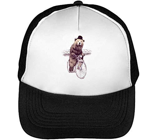Riding A Bicycle Gorras Hombre Snapback Beisbol Negro Blanco