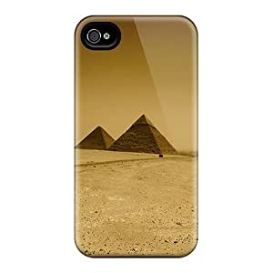 Fashion Tpu Case For Iphone 4/4s- Pyramid Defender Case Cover