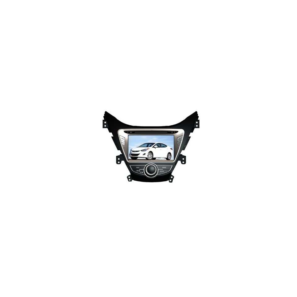 Eagle for 2011 2012 Hyundai Elantra Car GPS Navigation DVD Player Audio Video System with Radio (AM/FM),Bluetooth Hands Free,USB, AUX Input,(free Map),Plug & Play Installation