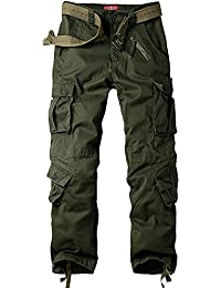 Men's Outdoor Casual Military Tactical Wild Combat Cargo Work Pants with 8 Pockets