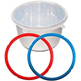 Nice-Components Silicone Lid Cover 8 Quart,Free cooker tag lable,Silicone Sealing Rings, Fit IPDUO80 IP-LUX80,Sweet and Savory Edition Ring