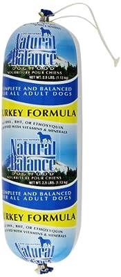 Natural Balance Turkey Formula Dog Food Roll, 2.5-Pound by Natural Balance