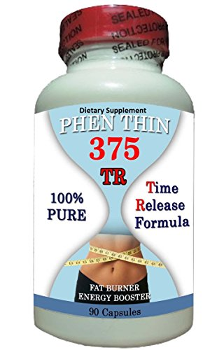 Phen Thin 375-TR,Maximum Appetite Control,Pharmaceutical Grade, MORE Energy, and LESS Appetite. (Phentermine Suppressant Appetite)