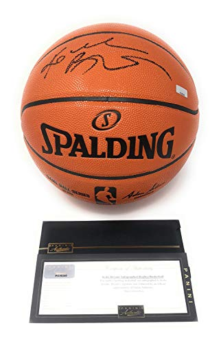 Kobe Bryant Basketball - Kobe Bryant Los Angeles Lakers Signed Autograph NBA Game Basketball Black Ink Panini Authentic Certified