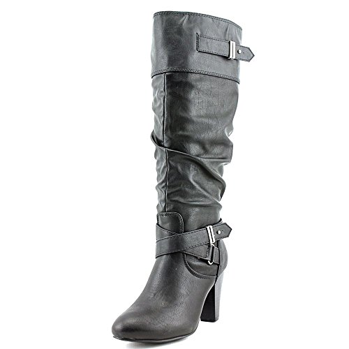 Rampage Women's Eliven Black Boot 8 M (Womens Boots Black)