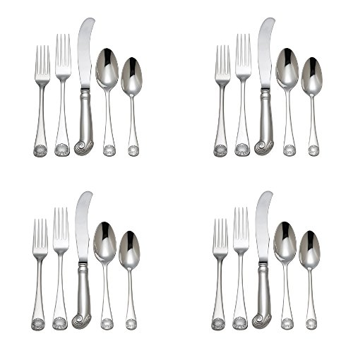 Reed & Barton Colonial Williamsburg Royal Shell Stainless 20pc. Flatware Set (Service for Four)