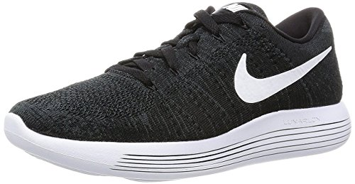 NIKE Men's Lunarepic Low Flyknit Running Shoe Black, White, Anthracite 11.5 D(M) US