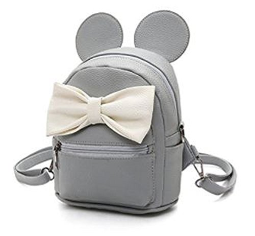 P's-JAPAN Cute Bowknot&Mouse Ears PU leather School Fashion Backpack -