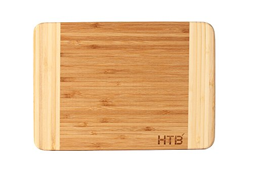 Small Bamboo Cutting Board (HTB 100% Bamboo Cutting Board,Thick Bamboo For Food Prep, Making Cocktails or Serving Appetizers 03S)