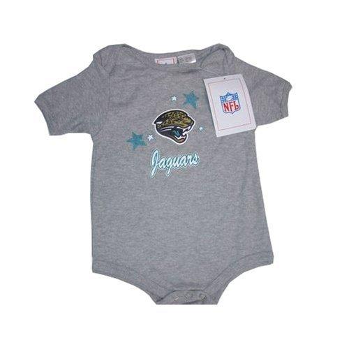 Jacksonville Jaguars NFL Reebok Baby/Infant Gray Creeper/Onesie (Nfl Infants Reebok Creeper)