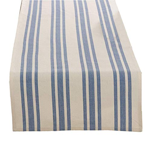 Fennco Styles Cotton Dauphine Collection Striped Design Table Runner - 16