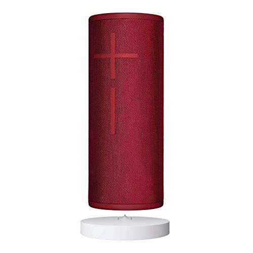 Ultimate Ears BOOM 3 Wireless Bluetooth Speaker with PowerUp Charging Dock, Bundle, Sunset Red
