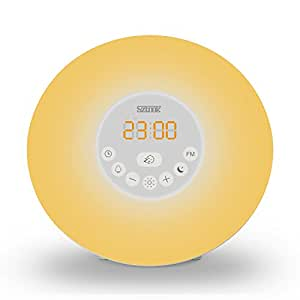 Sunrise Alarm Clock,Sztook Wake Up Light,Nature Sounds,FM Radio,7 Colors Night Light,Smart Snooze Function,Touch Control with USB Charger