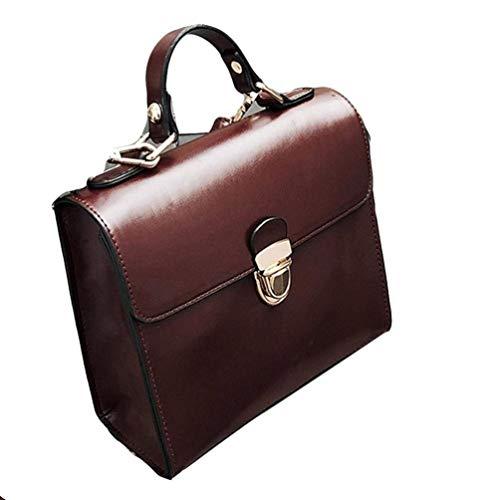 Colore Wine con Borsa tracolla in a Marrone Mini tracolla tracolla borsa PU tracolla in pelle piccola pelle vino a a Dimensione qwTrqIR7