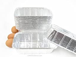 Disposable Aluminum 1 1/2 Pound Loaf Pan / Baking Pan #208 (50)