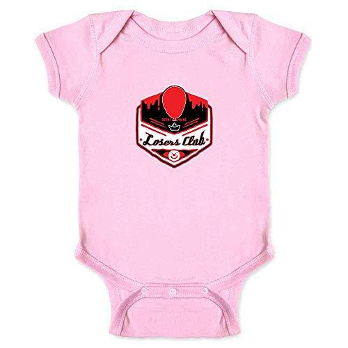 Pop Threads Losers Club Derry Maine Logo Horror Halloween Pink 24M Infant Bodysuit